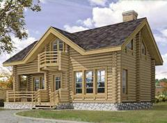 Projects of fellings. Projects of houses from a