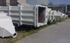 Anticorrosive covering of processing equipment.