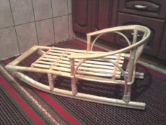 Санки детские деревянные, санки детские