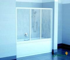 Двери для ванны Ravak AVDP3-120 белый+grape