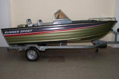 Aluminum boat.