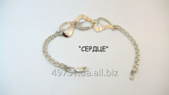 Bracelets from silver from a gold plate of