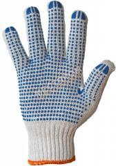 Перчатки вязанные с точкой ПВХ с одной стороны С
