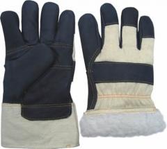 перчатки рабочие утепленные  из мебельной