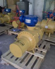 Fittings of gas pipelines. The crane spherical