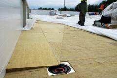 Basalt isolation for a flat roof of Knauf