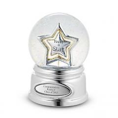 Музыкальный стеклянный шар Звезда