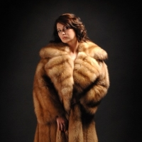Fur coat from a sable. Tailoring of a fur coat