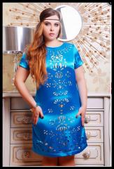 Атласное платье большого размера Величие