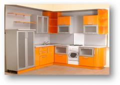 Furniture sets for kitchen angular, cabinet