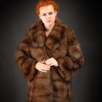 Fur coat from the Barguzin sable. Tailoring of fur