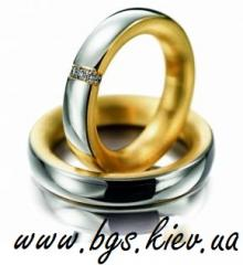 Wedding ring from the combined gold to buy branded