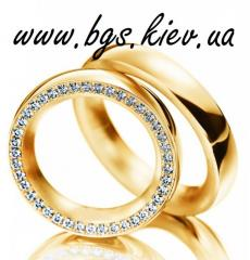 Wedding ring from yellow gold to buy gold, the