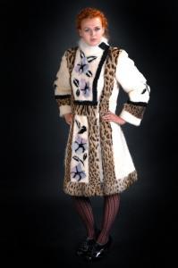 Fur coat from a shchipany nutria and Lippi's