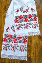 Embroidered wedding towel №8