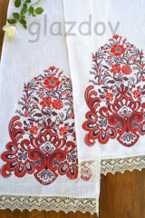 Embroidered wedding towel №38