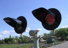 Переездные линзовые светофоры  (ламп./светодиоды)