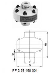 Divider membrane type Z 701, PVC-U Without