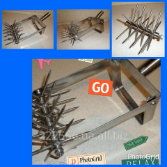 Cultivator manual on 5 disks from a stainless