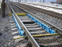 Scales are carriage one-platform besfundamentny