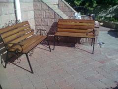 Скамейка металлическая садовая с элементами...
