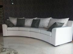 Radial sofa under the order