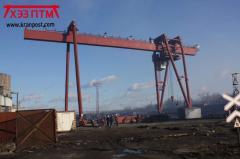 Gantryhooklifting span is up
