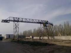 Кран козловой с передвижной кабиной грузоподъемность до 25 тонн пролетом до 32 метров