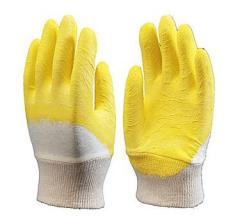Перчатки х/б с латексным покрытием (желтые)
