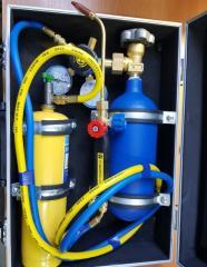 Свароч. пост СП-001 кислород 1 литра+1 литра мап
