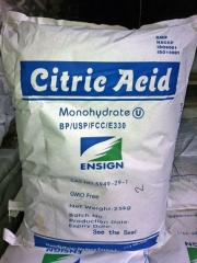 Citric acid, hydrate of citric acid, monohydrate