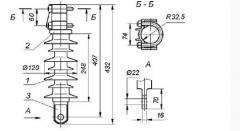 Insulators polymeric KSKTs 120-8-3,3-7, NSKTs