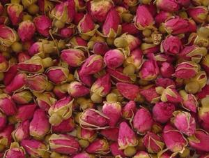 Rose buds dried.
