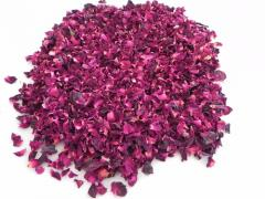 Red rose petals dried