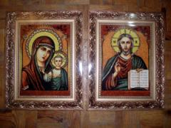 Icons in a wooden frame