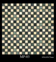 Marble mosaic. A tile the polished MR-03