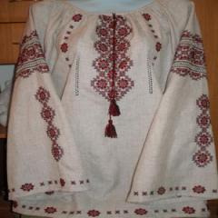 Сорочка вышиванка женская 86 белая красный