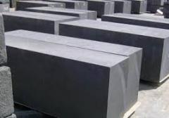 The microporous burned carbonaceous blocks