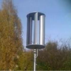 The wind generator is vertical