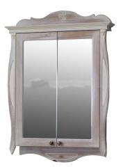 Шкаф зеркальный Атолл Ривьера daisy (белый)