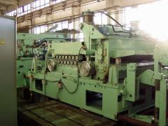 Lines of cross cutting of metal from a roll,