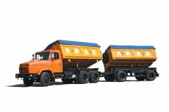 Dumping KRAZ-A201C2 KRAZ-6424s4+ road train