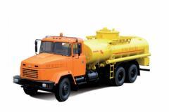 Tanker of KRAZ-6322 of ATs-10 and KRAZ-65053 of