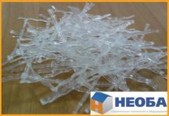 Fiber wavy polymeric (deputy of metal)