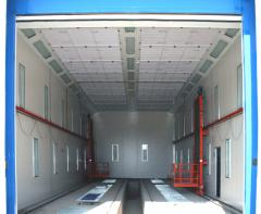 Painting and drying chambers for buses and trucks