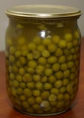 Tinned peas. A green pea brain varieties of 0.5 l