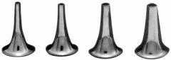 The ear speculum nickelized No. No. 1,2,3,4