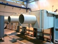 Ventilating systems from chemically resistant