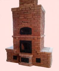 Камино-печь или финская печь из кирпича, с