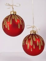 Glass Christmas tree decorations